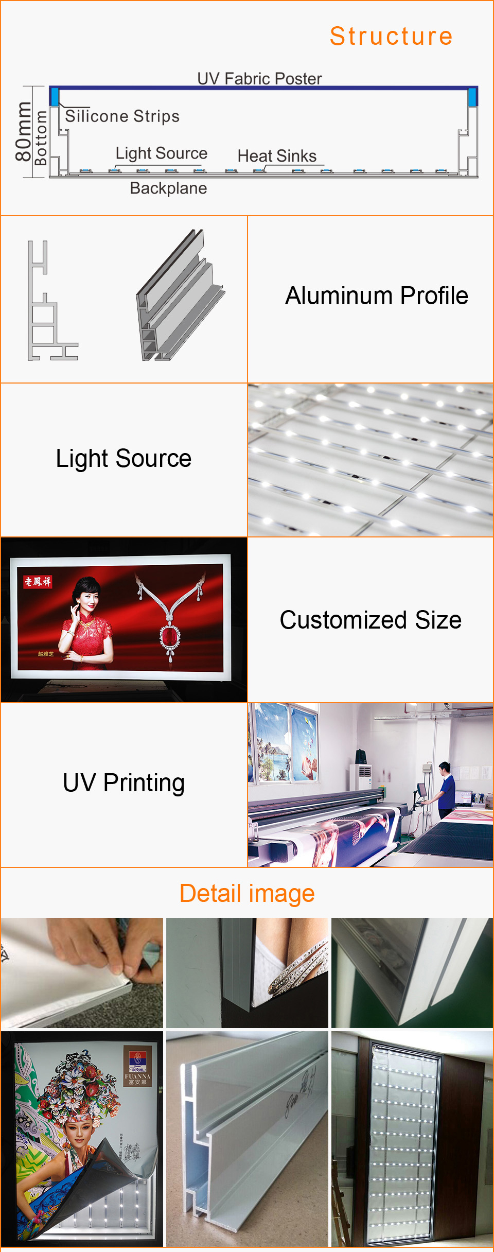 Frameless Fabric Led Light Box